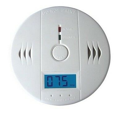 NEW LCD CO Carbon Monoxide Detector Poisoning Gas Warning Alarm Sensor Monitor