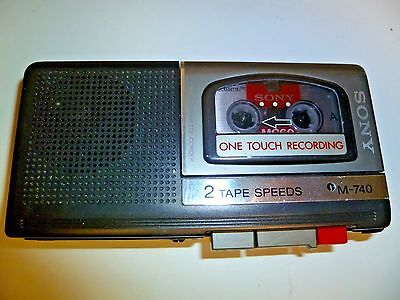 Sony M-740 Handheld Voice Dictation Recorder 2 Speed Microcassette-Corder Tested