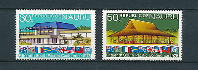 Nauru  #128-9 MNH, South Pacific Conference 1975
