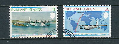 Falkland Is. 276-7 used,  First Direct Flight, 1978