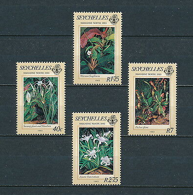 Seychelles 524-7 MNH, Paintings  By Marianne North, 1983, CV $9