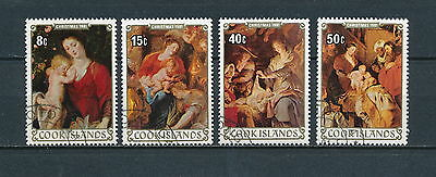 Cook Islands #669-72 used, Christmas 1981, Paintings by Rubens
