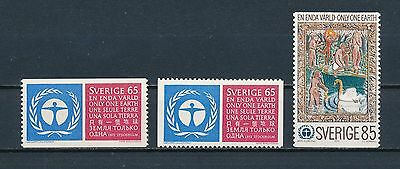 Sweden 933-5 MNH, One Earth, 1972