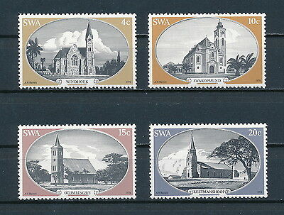 South West Africa 419-22 MNH, Historic Churches, 1978