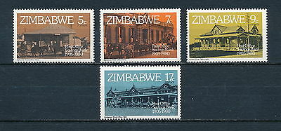 Zimbabwe #434-7 MNH, Post Office Buildings, 1980