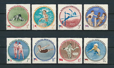 Dominican Republic 525-9, C115-17 MNH, Olympic Winners, 1961