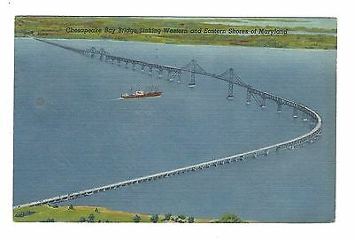 mjstampshobby 1962 USA Chasapeake Bay Bridge Linen Antique Used VF Cond (Lot547)