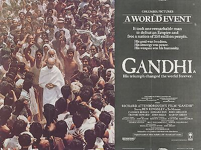 """Ghandi 16"""" x 12"""" Reproduction Movie Poster Photograph"""