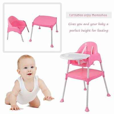 3 in 1 Baby High Chair Convertible Table Seat Booster Toddler Feed Highchair OY2