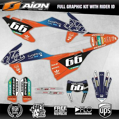 KTM EXC EXCF XCW 2017 2018 Grafik kit Motocross aufkleber dekor stickers set
