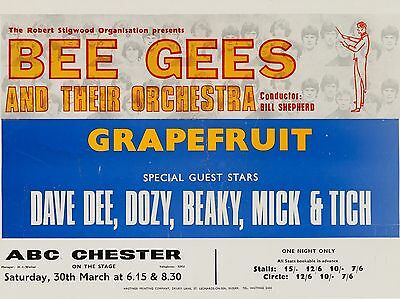 Bee Gees / Dave Dee Dozy Beaky Mick and Titch Chester 16x12 Repro Concert Poster