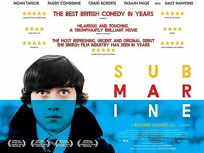 """SUBMARINE 2010 16"""" x 12"""" Reproduction Movie Poster Photograph"""