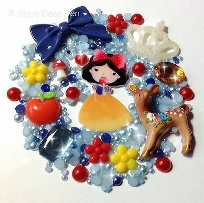 Snow White - Character Decoden Kit - Deer Bow Flowers Toadstool Apple Crown