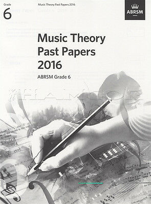 ABRSM Music Theory Past Papers 2016 Grade 6 Exams Tests Sheet Music Book