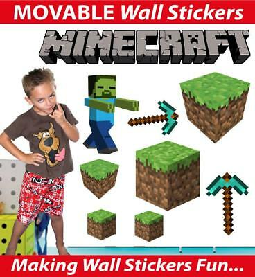Minecraft Movable Wall Stickers