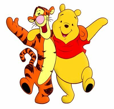 Tigger and Winnie the Pooh Movable Wall Stickers