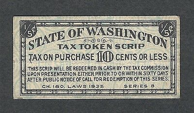 mjstampshobby 1935 US Tax Token State of Washington VF Cond (Lot1098)