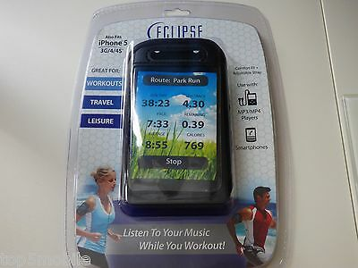 Eclipse Universal Armband - Ecl-arm-2.8 Black fit iPhone 5, 4, 4s,MP4 MP3 Player