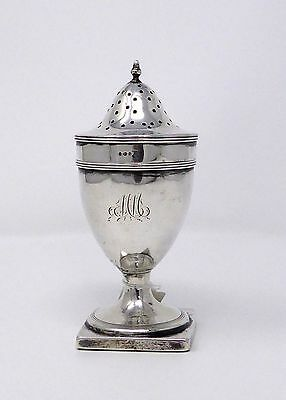 Silver George III pounce or pepper pot. Solomon Hougham, London, 1795