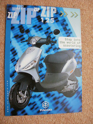 Original Piaggio Zip 125 scooter brochure 2001