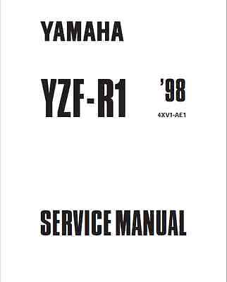 Yamaha R1 1998-1999 and 200-2001 YZF-R1 Factory Service and repa Manual