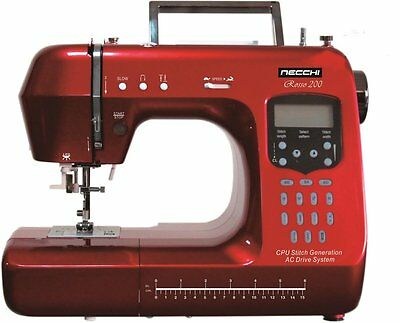 Rosso 200 NECCHI Quilting Edition Sewing Machine Fully Computerised Info Screen