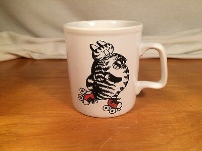 B Kliban Cat On Roller Skates Coffee/Tea Mug/Cup/Kiln Craft 8 Ounce