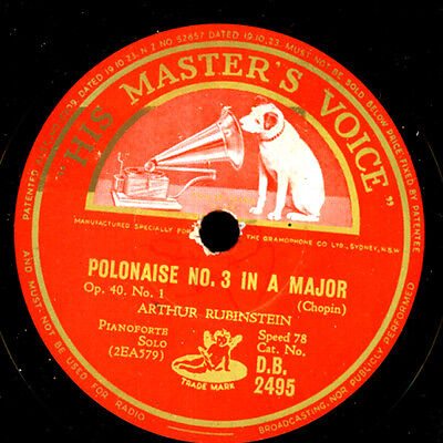 ARTHUR RUBINSTEIN -PIANO- Chopin: Polonaise No. 3 in A-Dur / No. 4 C-moll G3711