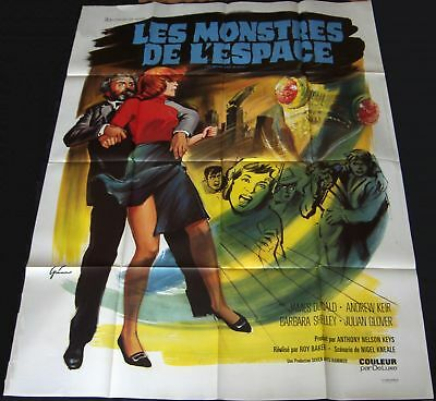 1967 Quatermass & the Pit ORIGINAL FRENCH POSTER Hammer SCI-FI Horror