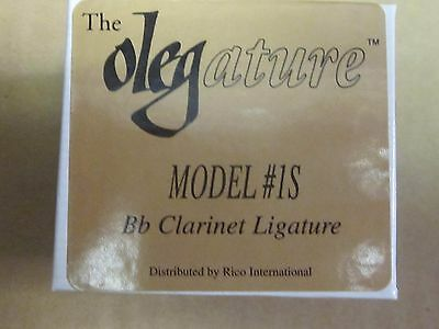 The Olegature Model #1S-Bb clarinet ligature,new'old stock'in box