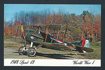 mjstampshobby US Post Card From Ackerson -1918 Spad 13 - World War 1- (Lot2035)