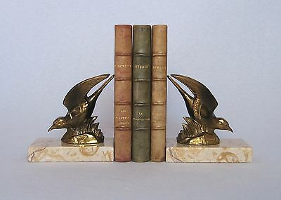 PAIR OF VINTAGE 1930s ART DECO FRENCH SPELTER BOOKENDS, in superb condition
