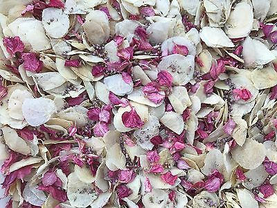 Ivory & Pink Petals, Dried & Biodegradable Wedding Confetti. Vintage Flowers 🌷