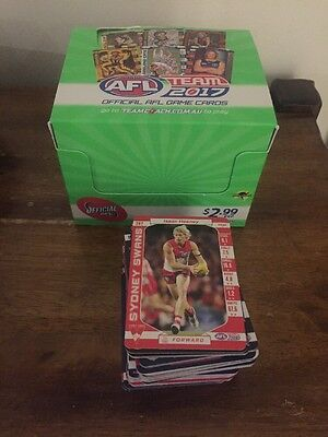 2017 AFL TEAMCOACH COMMON FOOTY CARDS 5 For $1