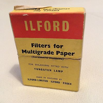 Ilford Filters For Multigrade Papers