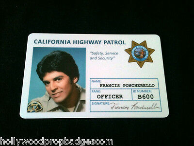 """CHP """"Chip's """"Ponch"""" Id Card 80'sTv Show NEW"""