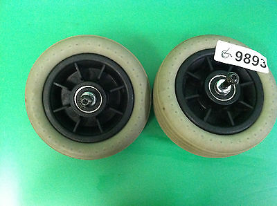 Rear  Caster Wheels for Quickie Freestyle Power Wheelchair  ~set of 2 ~ 9893