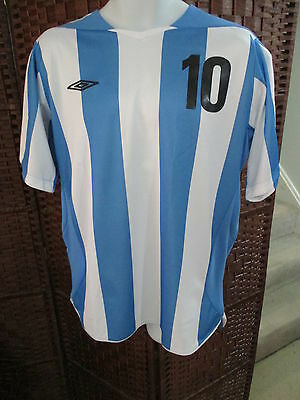 Umbro Diego Maradona Argentina Soccer Jersey Mens Large Football World Cup