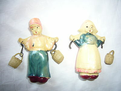 Antique Jack and Jill Hard Plastic? Resin? Made in Japan Figures Dolls