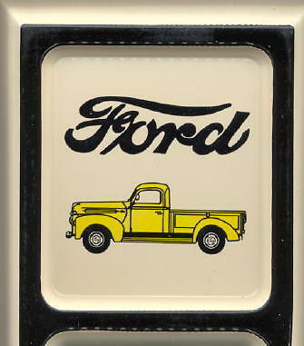 Ford Vintage Pick-Up Truck ~ Outdoor Tin Ad Thermometer