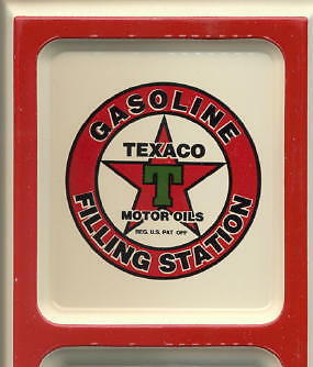 Texaco Oil ~ Old Star Logo ~ Outdoor Tin Ad Thermometer