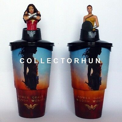 Wonder Woman  Movie Cup + Topper Set + Popcorn Holder  DC Comics