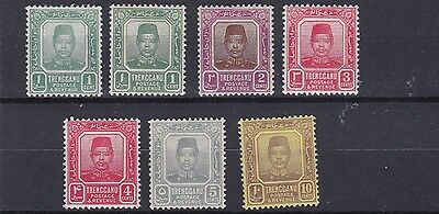 Trengganu  1910  S G 1 - 9A Various Values To 10C  Mh