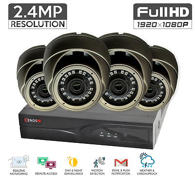 FULL HD 1080P 3 MP Mini DOME CAMERA CCTV SYSTEM OUTDOOR 4MP DVR 4CH Security TMB