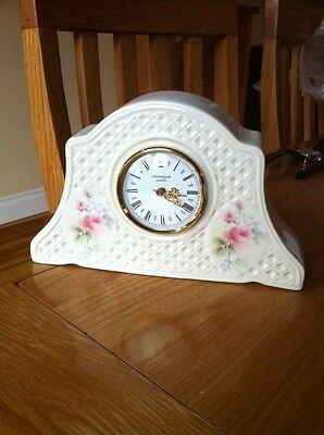 Donegal Parian China Mantle Clock