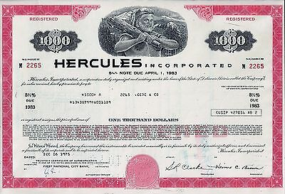 Hercules Incorporated 1975, 8 3/4% Note due 1983 - (1.000 $)