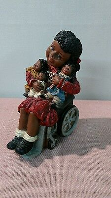 """All Gods Children """"Sylvia"""" in Wheelchair Signed & Numbered"""