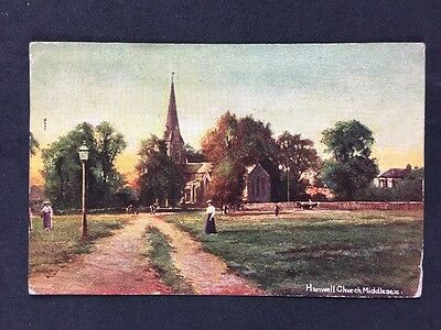 Vintage RP Postcard: Middlesex : #T1: Hanwell Church