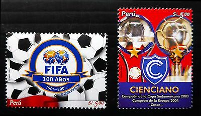 PERU 2004/5 World Cup Football SG2266 & 2296 U/M NB1020
