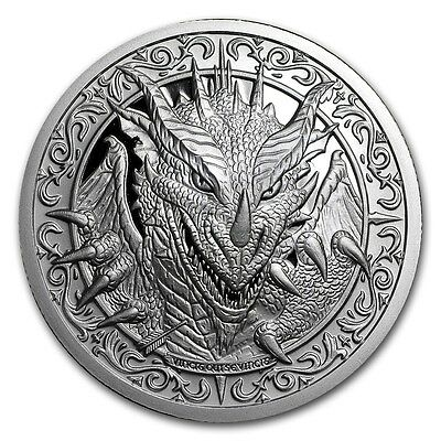 2~Oz ~ .999 Silver ~ Destiny  Knight ~ The  Dragon ~ Magnificent Detail ~ $77.88
